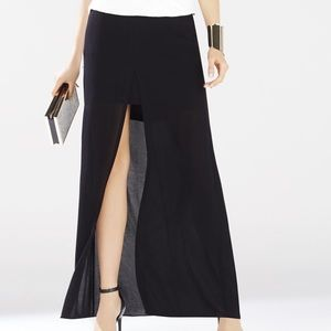 BCBGMaxAzria Black Maxi Skirt with Pockets